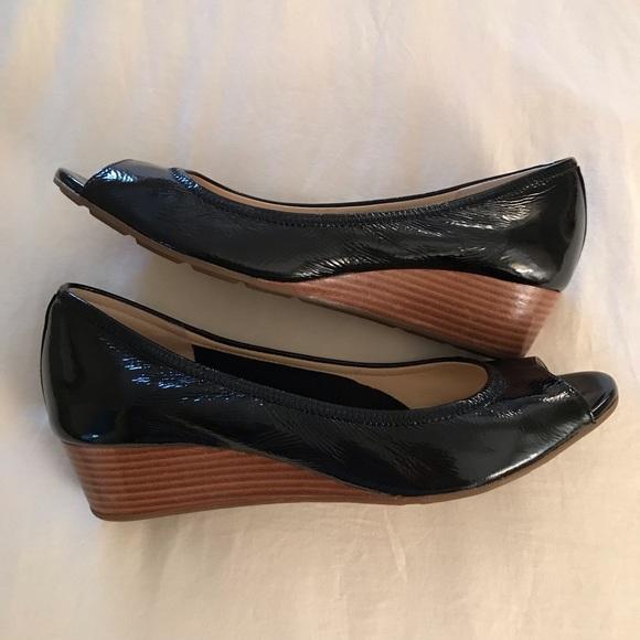 565e1165a Cole Haan Shoes - Cole Haan black patent wedges